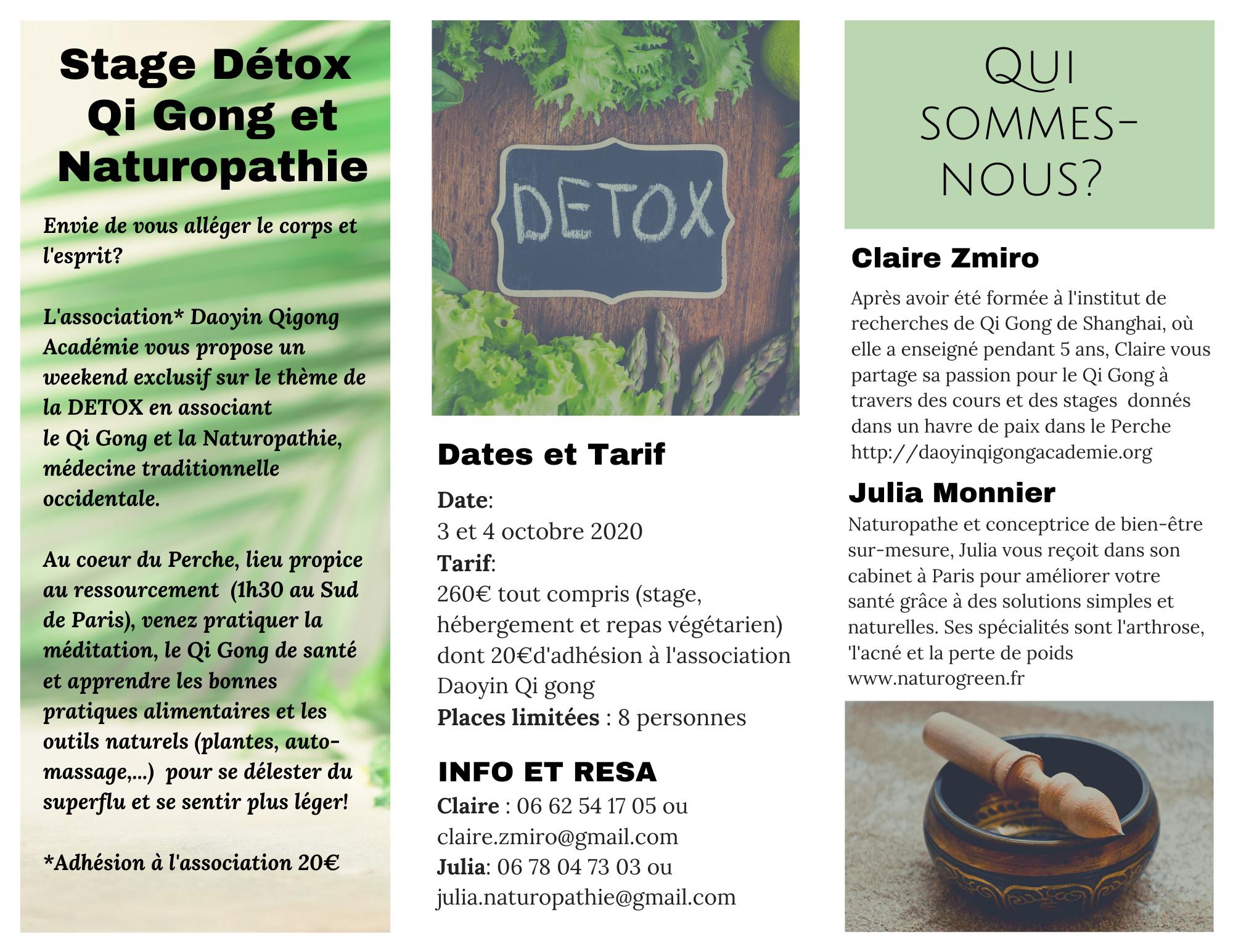 weekend detox naturopathie et qi gong